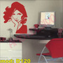 Adesivo Decorativo Mod ¿d120¿ - Rosto Mulher Francesa Bonita