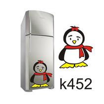 Adesivo K452 Adesivo Pinguim De Geladeira Pinguim Com Frio P