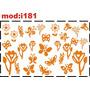 Adesivo I181 Flor Flores Florezinhas Florzinhas Menina