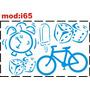 Adesivo I65 Bicicleta Bicicletinha Dados Dadinhos Picolé
