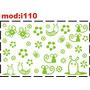 Adesivo I110 Animais E Flores Lesma Lesminha Minhoquinha