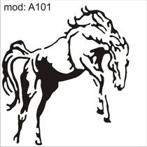 Adesivo A101 Cavalo Preto E Branco Pulando De Frente