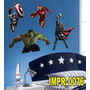 Adesivo Imp76 Marvel Capitao Ameria Hulk Homem De Ferro Thor