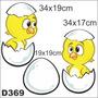 Adesivo Decorativo D369 - Galinha Pintadinha Pintinhos Bebê