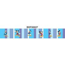Adesivo Bdfx0027 Mickey E Donald Border Faixa Decorativa