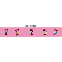 Adesivo Bdfx0030 Minnie Border Faixa Decorativa Infantil