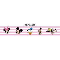 Adesivo Bdfx0026 Turma Do Mickey Border Faixa Decorativa