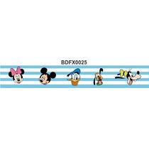 Adesivo Bdfx0025 Turma Do Mickey Border Faixa Decorativa
