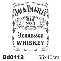 Adesivo Bd0112 Jack Daniels Decoração Parede