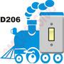 Adesivo D206 Interruptor Tomada Trem Trenzinho Infantil