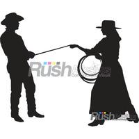 Adesivo Casal 2 Cowboy E Cowgirl ,country Rodeio Frete Grati