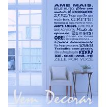 Adesivo Decorativo - Frases De A Z - Frete Grátis