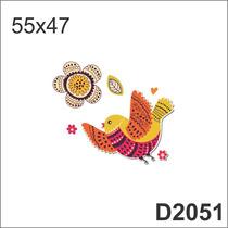 D2052 Adesivo Decorativo Pássaro Pássarinho Infantil Flor