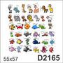 D2165 Adesivo Decorativo Animais Vários Animais Nomes