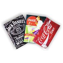 Placas Decorativas Vintage Retrô Coca-cola Pin-ups Harley