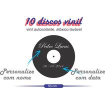 Adesivo Piso Pista De Dança Vinil Lp 10 Peças - Frete Grátis
