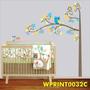 Adesivo Infantil Árvore E Bichos Corujinha Flores Wpt32c