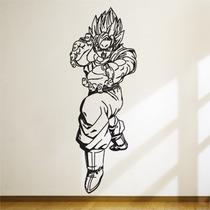 Adesivo De Parede - Dragon Ball Z - Goku - 47x1,30 Cm
