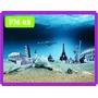 Adesivo Decorativo Fundo Do Mar - Painel Oceano Peixes 8m²