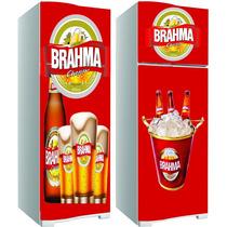 Kit Adesivo Envelopamento Skin Geladeira Cerveja Brahma