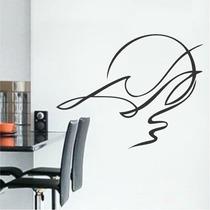 Adesivo Decorativo De Parede Abstrato Silhueta Pássaro Ave