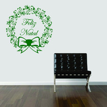 Adesivo Decorativo Parede Guirlanda Feliz Natal Laço