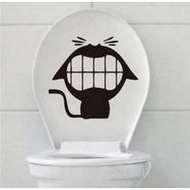 Adesivos 123 Decorativos Gato Banheiro Vaso Sanitário