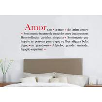 Adesivo Decorativo Romântico Amor (79x31)cm - Frete Gratis