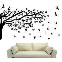 Adesivo Decorativos Galhos Árvore Pássaros 2,00m Gameleira