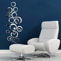 Design Espelhado De Parede 3d - Pronta Entrega