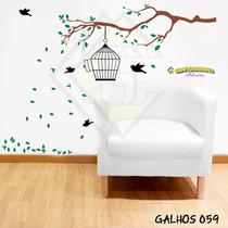 Adesivo Decorativo Parede Galhos Pássaros Gigante
