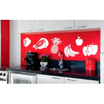 Adesivo Decorativo Frutas(52x32)cm - Frete Gratis