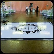 Tapete Pista De Dança Personalizado Para Eventos 4x4m