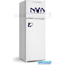 Adesivo Decorativo De Parede/geladeira Pinguins Caindo