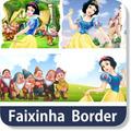 Adesivo Faixa Border Branca De Neve Minnie Disney Baby