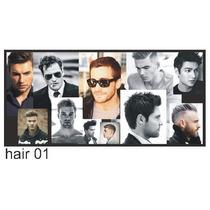 Adesivo De Parede Barbearia Salao Beleza Masculino Hair01