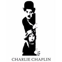 Adesivo Decorativo De Parede Charlie Chaplin Carlitos
