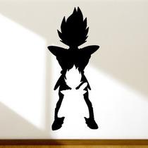 Adesivo De Parede - Dragon Ball Z Vegeta - 47x1,11 Cm