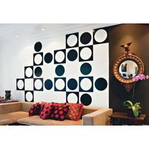 Quadrados E Bolas Adesivos Decorativos De Parede 46 X 46 Cm