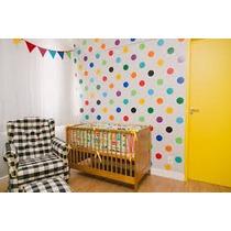 Adesivo P/ Parede Decorativo Bolinhas Coloridas Quarto Bebê