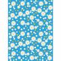 Papel Adesivo Contact Flores Margaridas Azul 45 Cm X 10m