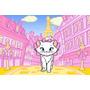 Painel Decorativo Festa Infantil Gatinha Marie Cat (mod2)
