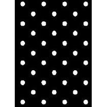 Papel Adesivo Contact Petit Poa Preto Branco 45 Cm X 10m