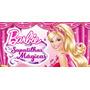 Painel Decorativo Festa Barbie Sapatilhas [2x1m] (mod7)