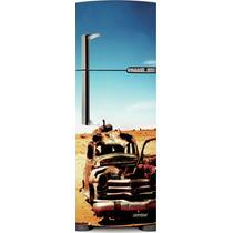 Adesivo Geladeira Carro Velho # 22 (porta Única)