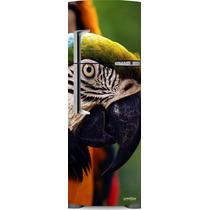 Adesivo Geladeira Papagaio Bico Preto # 38 (frigobar)