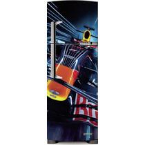 Adesivo Geladeira Carro Formula 1 # 10 (porta Única)