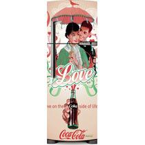 Adesivo Geladeira Coca Cola O Lada Bom Da Vida # 50 (porta Ú