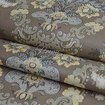 Papel De Parede Importado Textura Em Relevo - Brilho Marrom