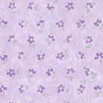 Papel De Parede - Floral Lilás (10 Metros X 52cm) Bobinex